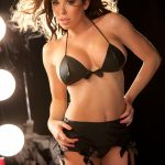 Allure Lingerie Black Soft Touch PVC Pin Up Girl 3 Piece Set